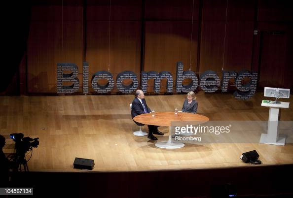 Robert 'Bob' Nardelli chief executive officer of Cerberus Capital Management LP left speaks to Diane Brady senior editor with Bloomberg Businessweek...