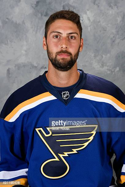 Robert Bortuzzo of the St Louis Blues poses for his official headshot for the 20152016 season on September 17 2015 in St Louis Missouri