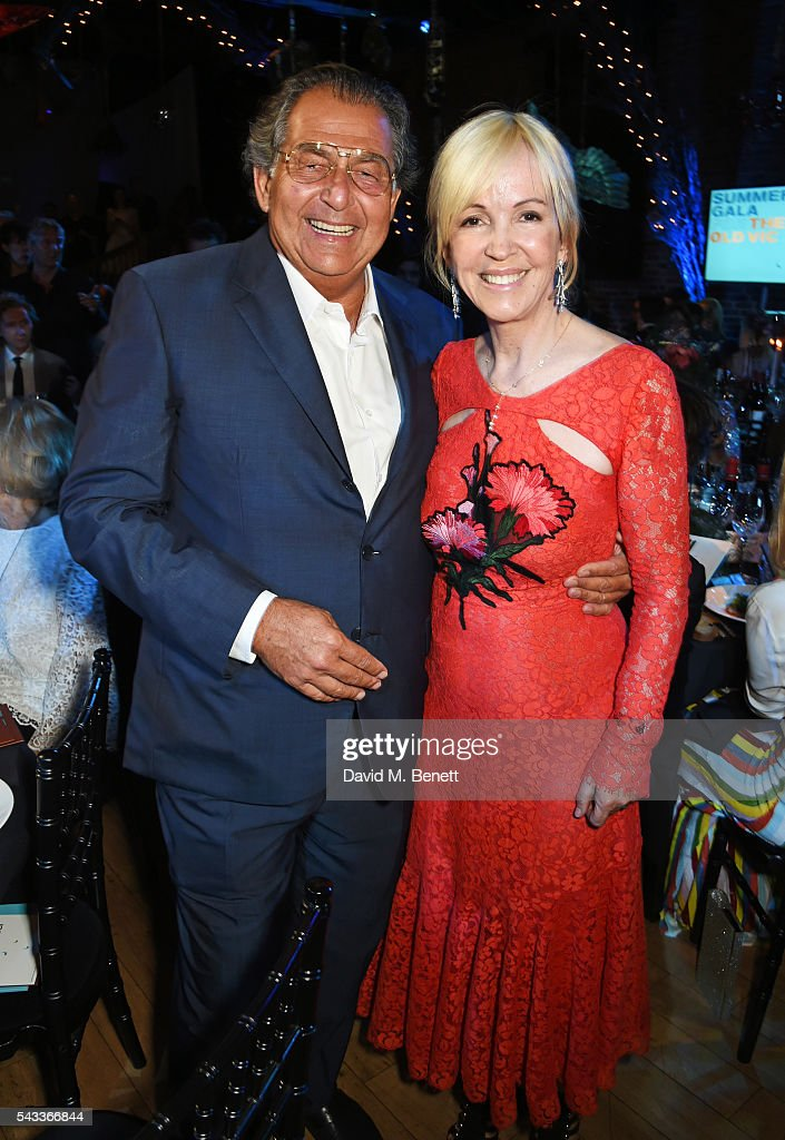 Robert Bourne (L) and Old Vic CEO Sally Greene attend the Summer Gala for The Old Vic at The Brewery on June 27, 2016 in London, England.