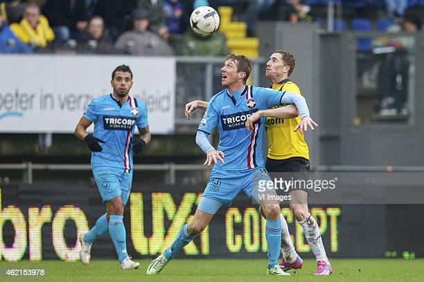 Robert Braber of Willem II Gilles Swerts of NAC Breda during the Dutch Eredivisie match between NAC Breda and Willem II at the Rat Verlegh stadium on...