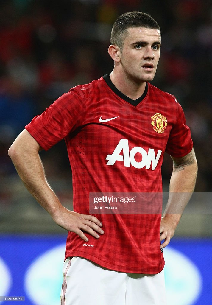 Robert Brady of Manchester United in action during the pre-season friendly between AmaZulu FC and Manchester United at Moses Mabhida Stadium on July 18, 2012 in Durban, South Africa.