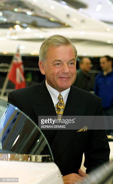 Robert Braithwaite MBE Chairman and coowner of Sunseeker International at the London Boat Show 04 January 2001 Braithwaite is head of the...