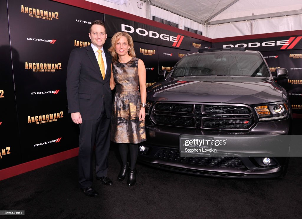 Robert Broderdorf Jr. and Melissa Garlick attend 'Anchorman 2' Premiere NYC Sponsored By Dodge at Beacon Theatre on December 15, 2013 in New York City.