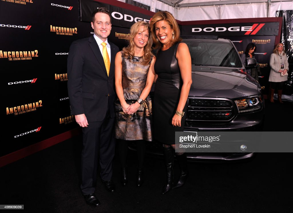Robert Broderdorf Jr., Melissa Garlick and <a gi-track='captionPersonalityLinkClicked' href=/galleries/search?phrase=Hoda+Kotb&family=editorial&specificpeople=2338013 ng-click='$event.stopPropagation()'>Hoda Kotb</a> attend 'Anchorman 2' Premiere NYC Sponsored By Dodge at Beacon Theatre on December 15, 2013 in New York City.