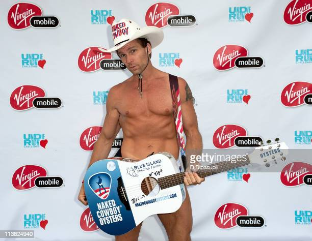 Robert Burck aka the Naked Cowboy attends the 2011 Undie Run Challenge at Washington Square Park on May 6 2011 in New York City
