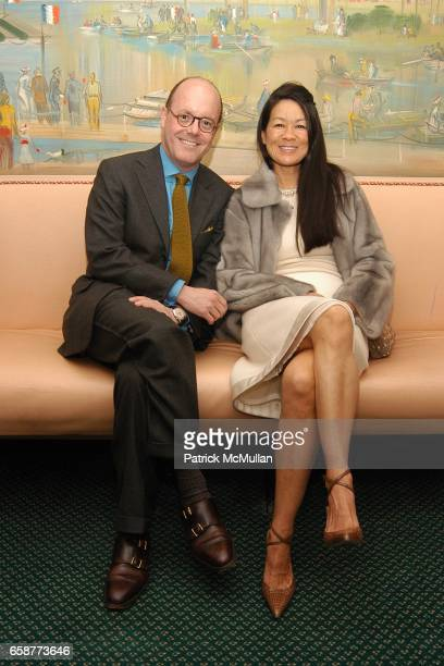 Robert Burke and Helen Lee Schifter attend Andre Leon Talley and Robert Burke host at La Caravelle for Loulou de la Falaise Collection on February 12...
