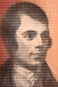 Robert Burns portrait from Scottish money