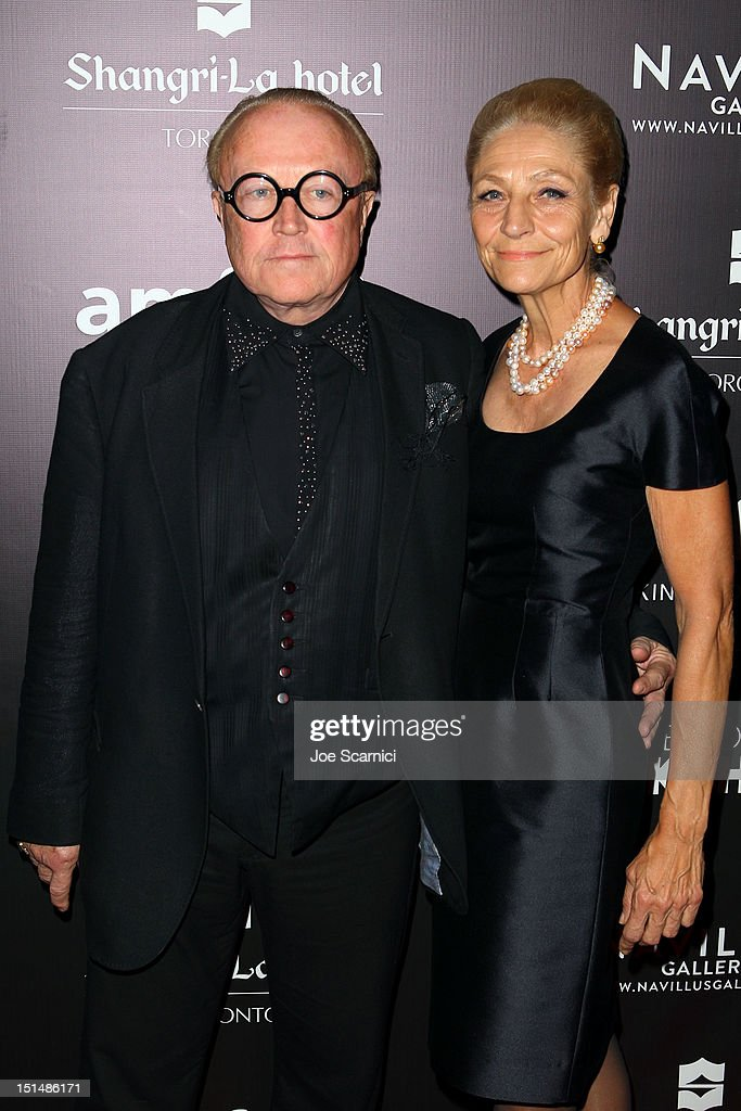 Robert Cage (L) and Andrea Bolley attend amfAR Cinema Against AIDS TIFF 2012 during the 2012 Toronto International Film Festival at Shangri-La Hotel on September 7, 2012 in Toronto, Canada.