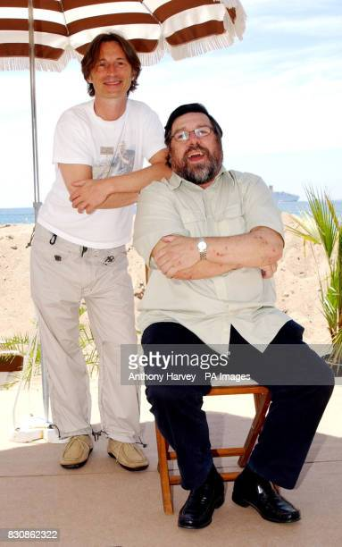 Robert Carlyle and Ricky Tomlinson poses for photographers during a photocall for his new film 'Once upon a time in the Midlands' at the Grand Hotel...