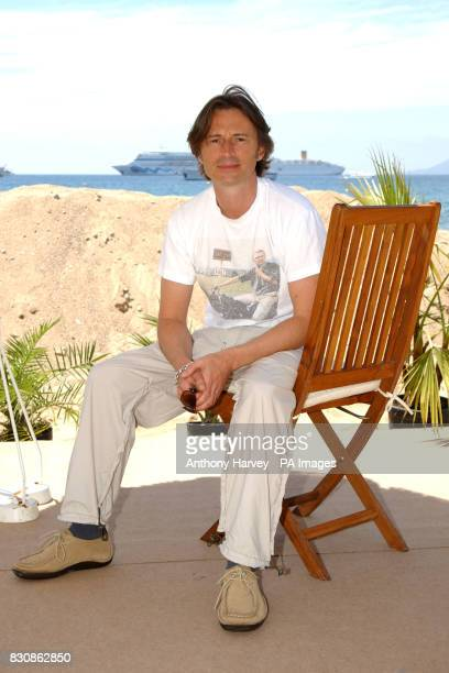 Robert Carlyle during a photocall for his new film 'Once upon a time in the Midlands' at the Grand Hotel beach during the 55th Cannes film Festival