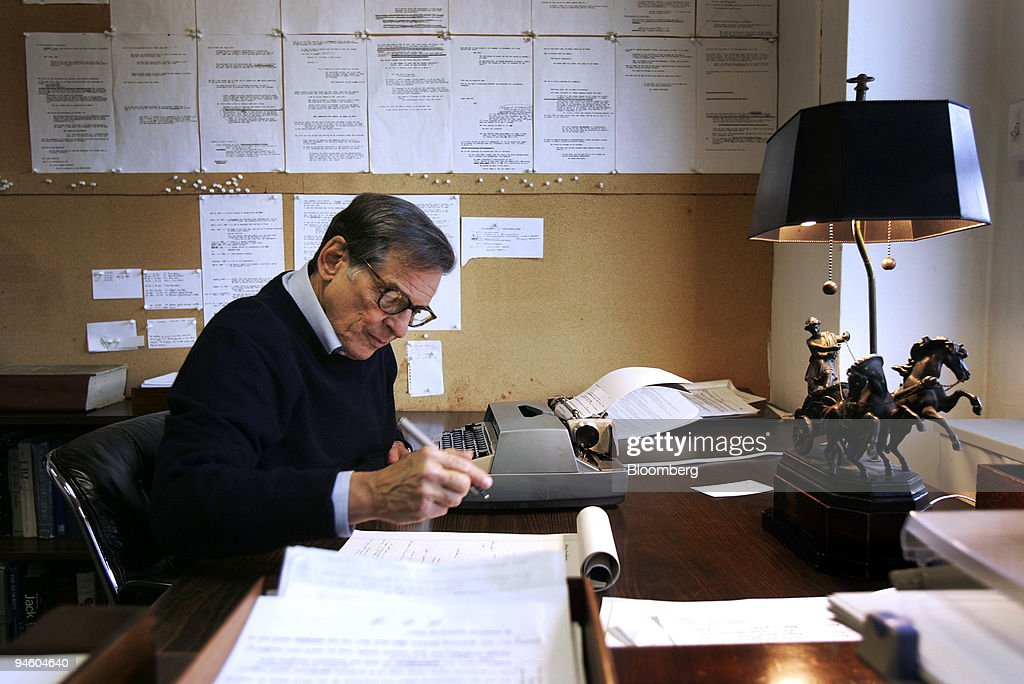 Robert Caro author of 'The Power Broker' a biography on Robert Moses works in his office in New York Thursday March 1 2007