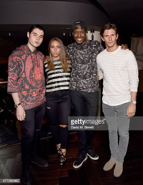 Robert Cavalli Chloe Green Vas J Morgan and Jake Hall attend the ShortList and House of Fraser London Collections Men closing night party 2015 at...