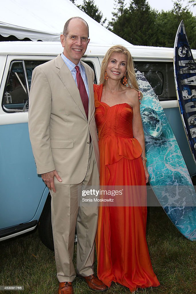 Robert Chaloner and Laura Lofaro Freeman attend the Southampton Hospital's 56th Annual 'Endless Summmer' party on August 2, 2014 in Southampton, New York.
