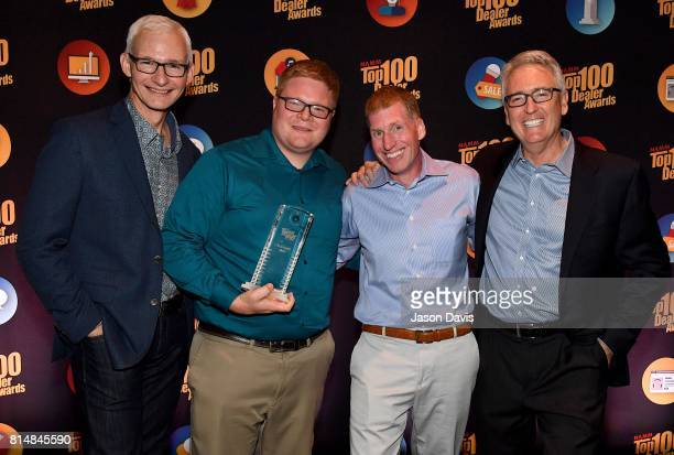 Robert Christie and Josh Zapor of AG Central pose backstage after winning Dealer of The Year Award during Top 100 Dealer Awards at Summer NAMM at...