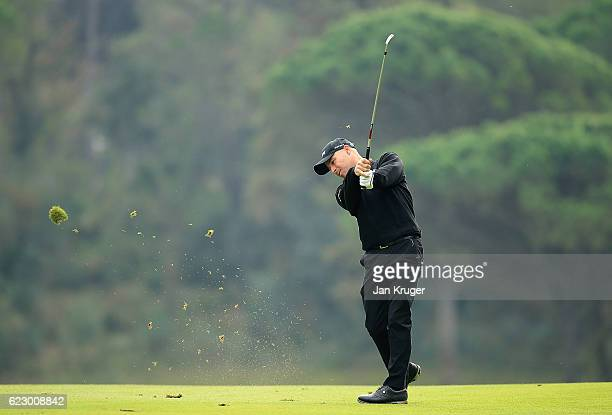 Robert Coles of England during the second round of the European Tour qualifying school final stage at PGA Catalunya Resort on November 13 2016 in...