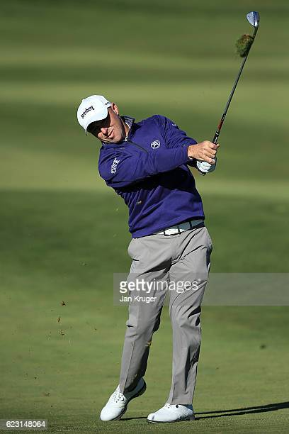 Robert Coles of England during the third round of the European Tour qualifying school final stage at PGA Catalunya Resort on November 14 2016 in...