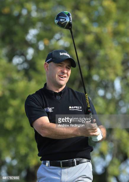 Robert Coles of England hits his tee shot on the 13th hole during the first round of the Open de Portugal at the Morgado Golf Resort on May 11 2017...