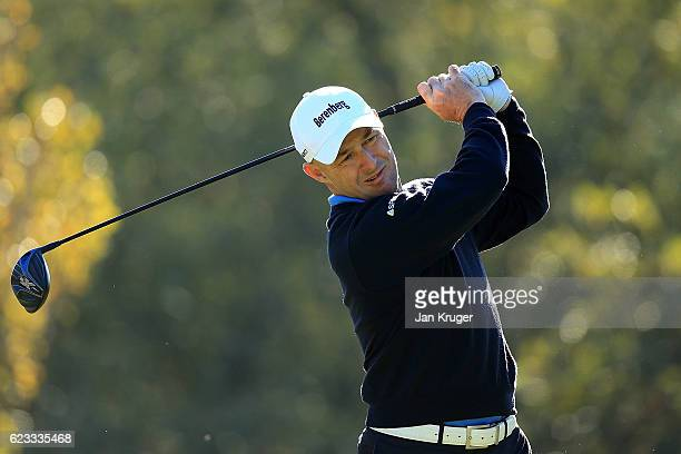 Robert Coles of England in action during the fourth round of the European Tour qualifying school final stage at PGA Catalunya Resort on November 15...