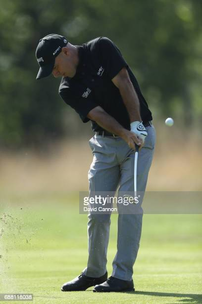 Robert Coles of England on the ninth hole during day one of the BMW PGA Championship at Wentworth on May 25 2017 in Virginia Water England