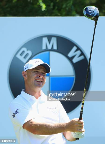 Robert Coles of England tees off on the 6th hole during day two of the BMW PGA Championship at Wentworth on May 26 2017 in Virginia Water England
