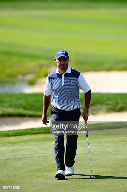 Robert Coles of England walks across the green on the 9th hole during day one of the DD REAL Czech Masters at Albatross Golf Resort on August 18 2016...