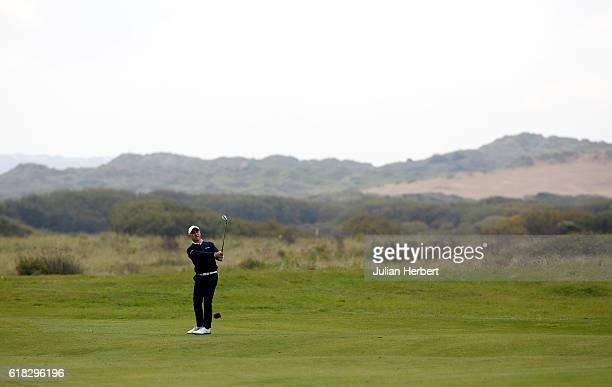 Robert Coles of Golf Club plays a shot during day three of The 2016 PGA PlayOffs on October 26 2016 in Braunton England