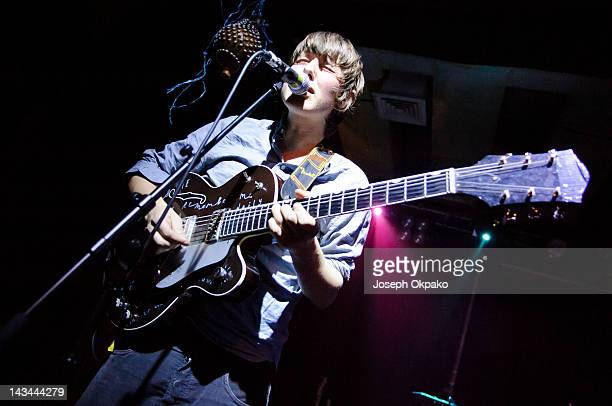Robert Coles of Little Comets performs at Scala on April 26 2012 in London England