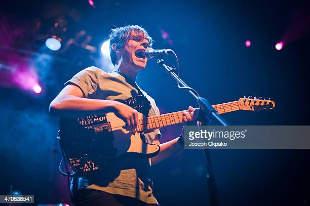 Robert Coles of Little Comets performs on stage at Electric Ballroom on February 20 2014 in London United Kingdom