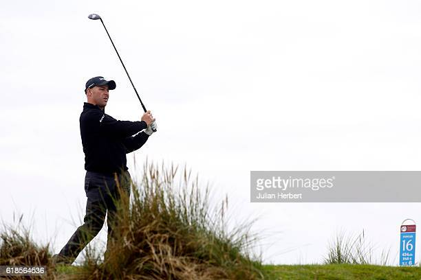 Robert Coles of Maylands Golf Country Club plays his first shot from the 16th tee during day four of The 2016 PGA PlayOffs on October 27 2016 in...