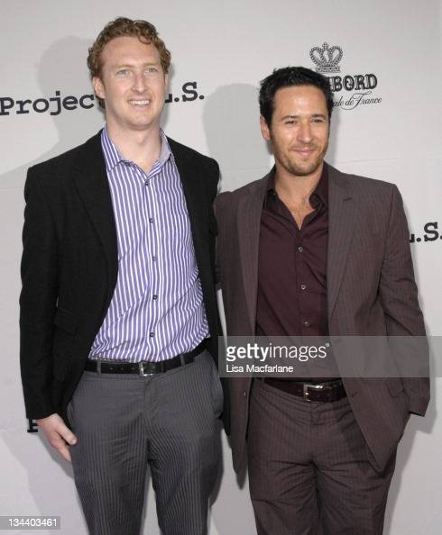 Robert Cooper and Rob Morrow during The Chambord Project Raise Money by Raising Your Glass at NA in New York City New York United States