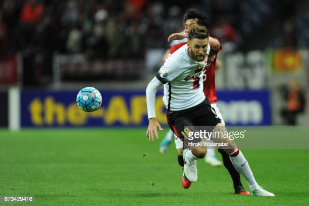 Robert Cornthwaite in action during the AFC Champions League Group F match between Urawa Red Diamonds and Western Sydney at Saitama Stadium on April...