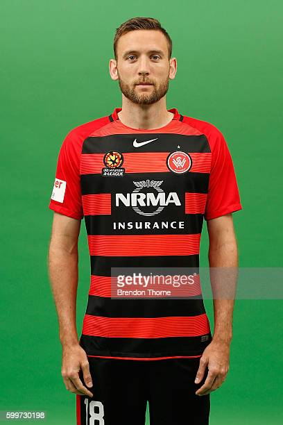 Robert Cornthwaite poses during the Western Sydney Wanderers ALeague headshots session at Fox Studios on September 5 2016 in Sydney Australia