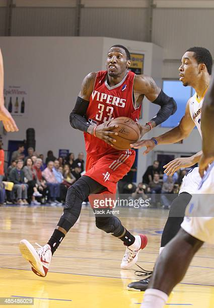 Robert Covington of the Rio Grande Valley Vipers dribbles the ball against of the Santa Cruz Warriors during game 1 of the DLeague semi finals on...