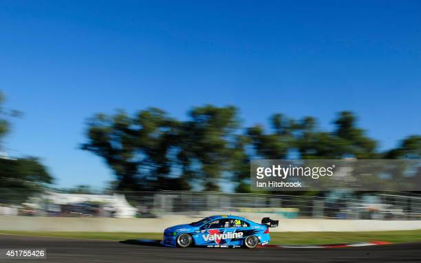Robert Dahlgren drives the Valvoline Racing GRM Volvo during qualifying for race 22 of the Townsville 500 which is round seven of the V8 Supercar...