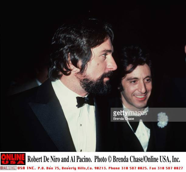 Robert De Niro and Al Pacino Stock Photo