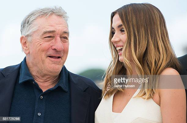 Robert De Niro and Ana de Armas attend the 'Hands Of Stone' Photocall at the annual 69th Cannes Film Festival at Palais des Festivals on May 16 2016...