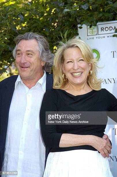 Robert De Niro and Bette Midler attend the New York Restoration Project's 4th Annual Spring Picnic at Thomas Jefferson Park in East Harlem to...