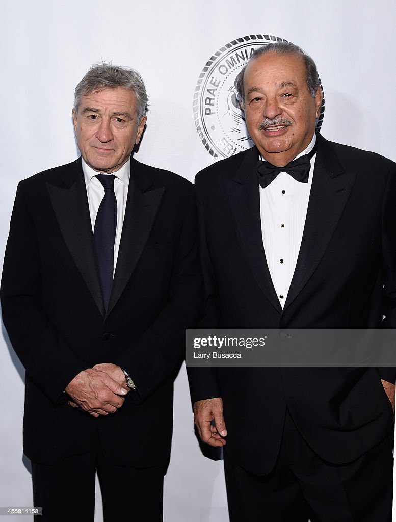 <a gi-track='captionPersonalityLinkClicked' href=/galleries/search?phrase=Robert+De+Niro&family=editorial&specificpeople=201673 ng-click='$event.stopPropagation()'>Robert De Niro</a> (L) and <a gi-track='captionPersonalityLinkClicked' href=/galleries/search?phrase=Carlos+Slim&family=editorial&specificpeople=584959 ng-click='$event.stopPropagation()'>Carlos Slim</a> attend the Friars Foundation Gala honoring <a gi-track='captionPersonalityLinkClicked' href=/galleries/search?phrase=Robert+De+Niro&family=editorial&specificpeople=201673 ng-click='$event.stopPropagation()'>Robert De Niro</a> and <a gi-track='captionPersonalityLinkClicked' href=/galleries/search?phrase=Carlos+Slim&family=editorial&specificpeople=584959 ng-click='$event.stopPropagation()'>Carlos Slim</a> at The Waldorf=Astoria on October 7, 2014 in New York City.