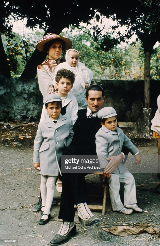 Robert De Niro and Francesca De Sapio perform a scene in The Godfather Part II directed by Francis Ford Coppola in 1974 in Sicily Italy