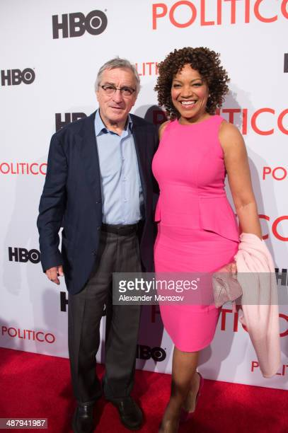 Robert De Niro and Grace Hightower attend a screening of the HBO documentary 'Remembering The Artist Robert De Niro Sr' hosted by POLITICO at the...
