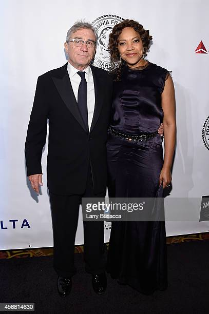 Robert De Niro and Grace Hightower attend the Friars Foundation Gala honoring Robert De Niro and Carlos Slim at The Waldorf=Astoria on October 7 2014...