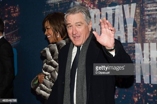 Robert De Niro and Grace Hightower attend the SNL 40th Anniversary Celebration at Rockefeller Plaza on February 15 2015 in New York City