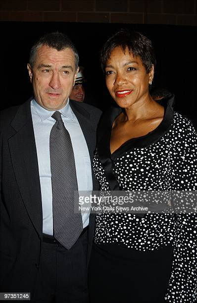 Robert De Niro and Grace Hightower attend the Tribeca Film Festival screening of 'Brotherhood' at the Tribeca Performing Arts Center The movie which...