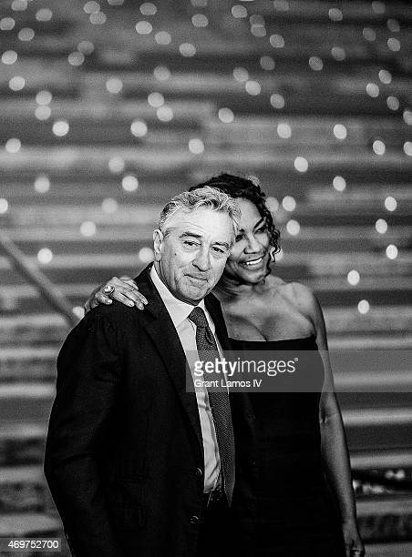 Robert De Niro and Grace Hightower attend the Vanity Fair Party during the 2015 Tribeca Film Festival at the New York State Supreme Court Building on...