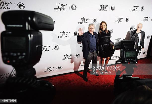 Robert De Niro and Grace Hightower attend the world premiere of 'Live From New York' during the 2015 Tribeca Film Festival at the Beacon Theatre on...