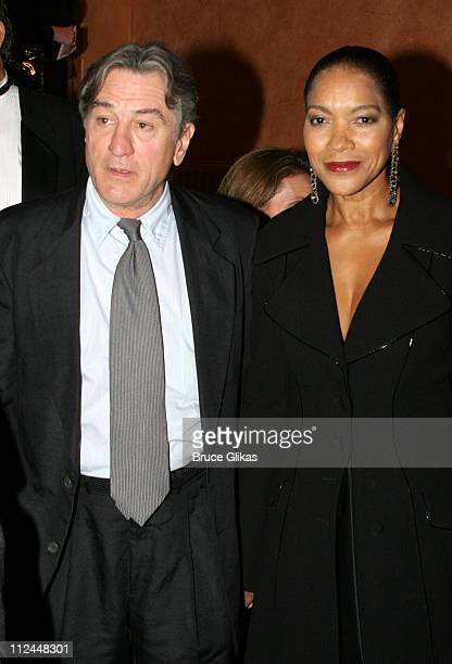 Robert De Niro and Grace Hightower during 'Jersey Boys' Broadway Opening Night Arrivals at The August Wilson Theater in New York City New York United...