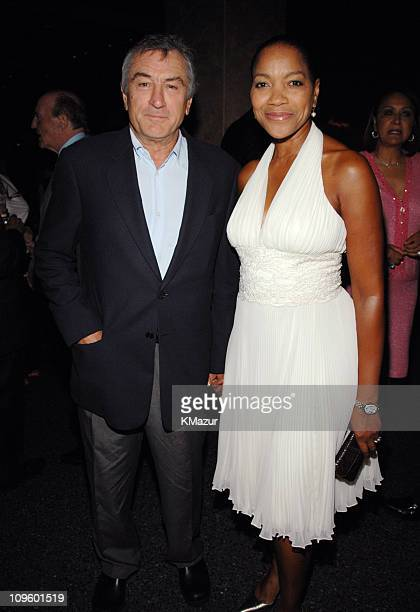 Robert De Niro and Grace Hightower during Tony Bennett's 80th Birthday Party Inside in New York City New York United States