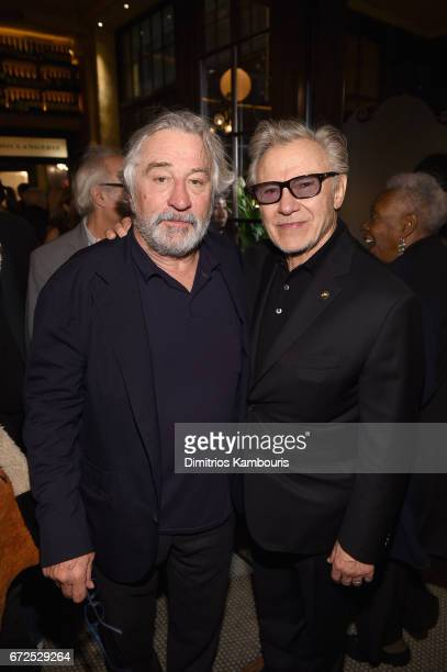 Robert De Niro and Harvey Keitel attend the CHANEL Tribeca Film Festival Artists Dinner at Balthazar on April 24 2017 in New York City