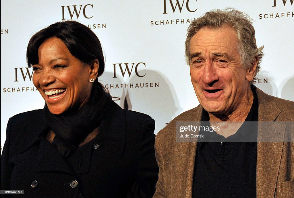 <a gi-track='captionPersonalityLinkClicked' href=/galleries/search?phrase=Robert+De+Niro&family=editorial&specificpeople=201673 ng-click='$event.stopPropagation()'>Robert De Niro</a> and his wife <a gi-track='captionPersonalityLinkClicked' href=/galleries/search?phrase=Grace+Hightower&family=editorial&specificpeople=211382 ng-click='$event.stopPropagation()'>Grace Hightower</a> attend IWC And Tribeca Film Festival Celebrate 'For The Love Of Cinema' at Urban Zen on April 18, 2013 in New York City.