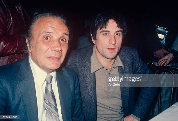Robert De Niro and Jake LaMotta at the NY Film Critics Circle Award 1980 for Joe Pesci